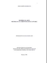 MEMÓRIA DA ARTE:MESTRE JUCA E A REINVENÇÃO DA CANTARIA